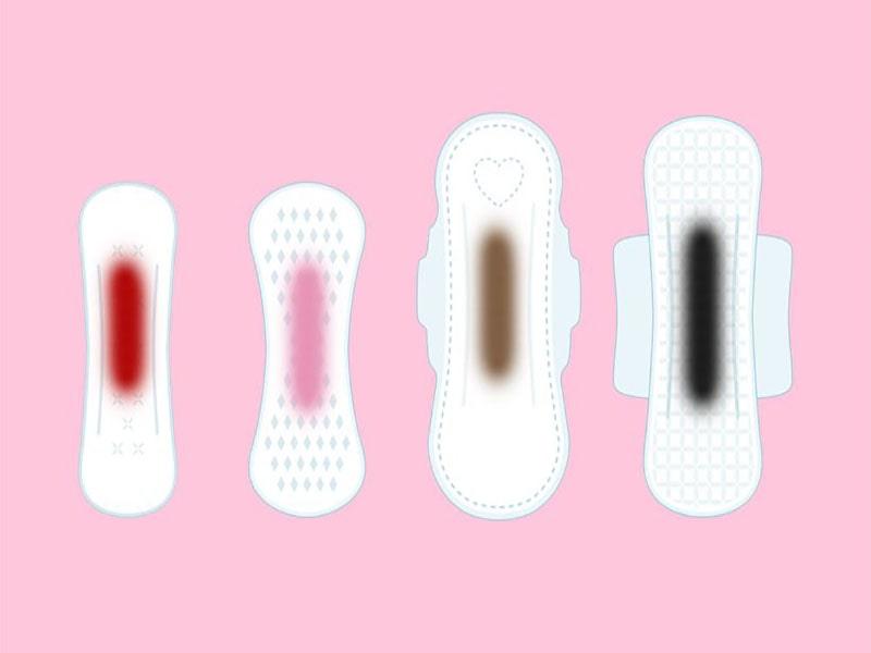 رنگ خون قاعدگی نشانه چیست