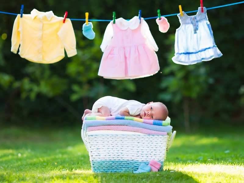 شستن لباس نوزاد برای اولین بار قبل از استفاده